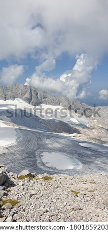 glacier mountain dachstein west in styria austria the picture was taken on a beautiful but cold spring day on the glacier