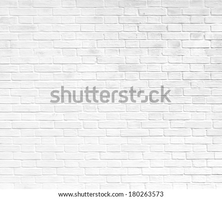 Abstract weathered texture stained old stucco light gray and aged paint white brick wall background in rural room, grungy rusty blocks of stonework technology color horizontal architecture wallpaper #180263573