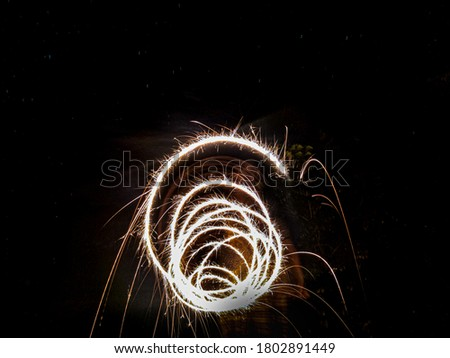 Long Exposure photography with Sparkler.  #1802891449