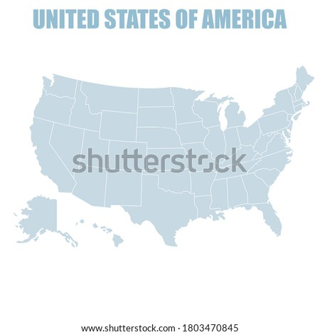 vector icon America.Image map united states of America map