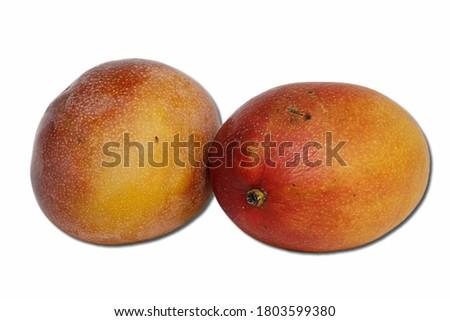 manga white background food fruit no person white isolated background.