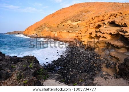 Photo Picture of the Beautiful Ocean Coast's View Montana Amarilla Tenerife