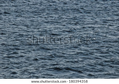 Blue Still Sea Water With Ripple. Natural Background Photo Texture #180394358