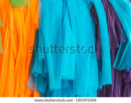 Three color fabric in temple and belief #180395006