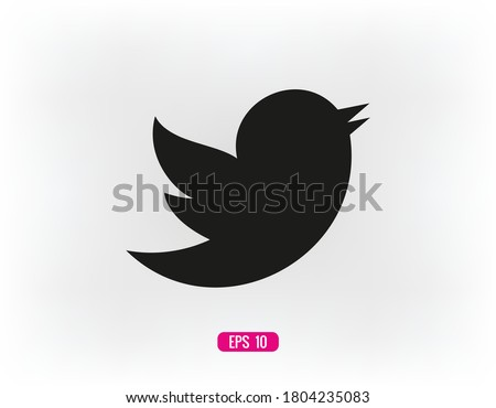 Bird vector icon, a little bird. The bird chirps icon. Vector icon EPS 10 #1804235083