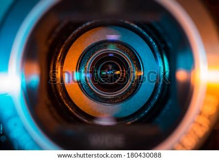 Video camera lens Royalty-Free Stock Photo #180430088