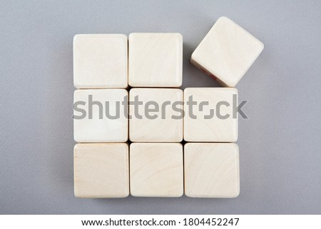 a picture of block of wood characters