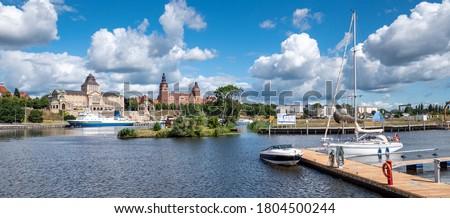 Panorama of Szczecin in Poland Europe Royalty-Free Stock Photo #1804500244