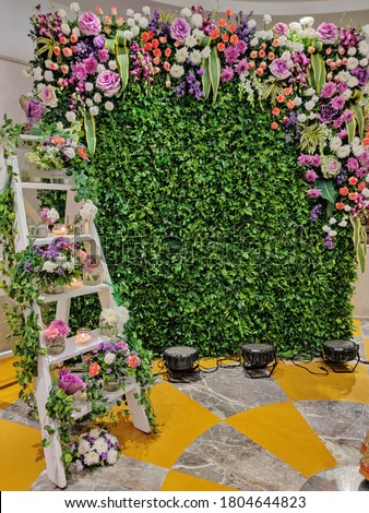 Floral backdrop for a photo op