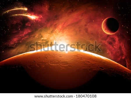 The Surface of Mars - Elements of this Image Furnished by NASA
