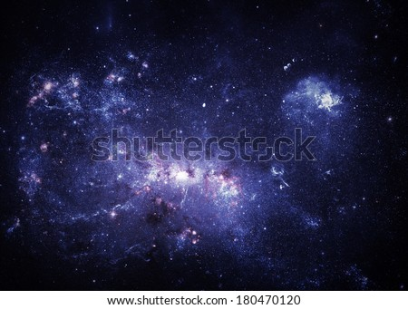 Blue Nebulae - Elements of this Image Furnished by NASA