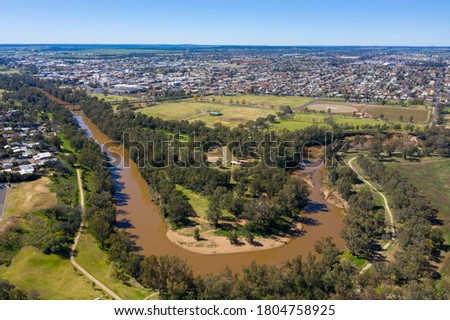 The city of Dubbo in the central west of NSW , Australia. Royalty-Free Stock Photo #1804758925