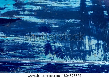 blue paint material on a boat hull