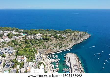 Aerial view of Castro Marina. Lecce, Salento, Puglia / Italy Royalty-Free Stock Photo #1805186092