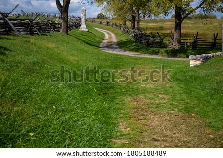 Bloody Lane at Antietam Battlefield Royalty-Free Stock Photo #1805188489