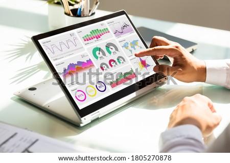 Digital Data Technology. KPI Business Dashboard Technology Royalty-Free Stock Photo #1805270878