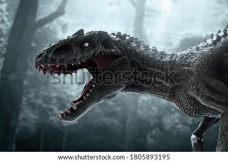 Dinosaur, Tyrannosaurus Rex in the jungle Royalty-Free Stock Photo #1805893195