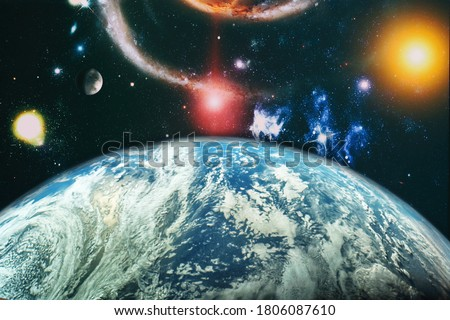 space background with nebulas and stars. This image elements furnished by NASA