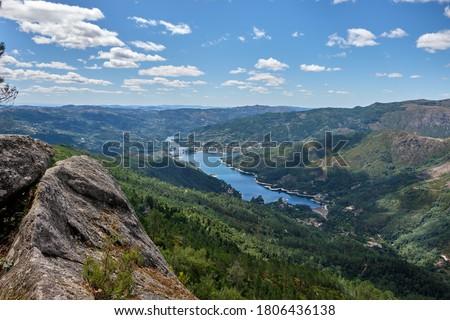 Gerês, Portugal - August 30, 2020 : View of Cavado river and Peneda-Geres National Park, Gerês, Portugal Royalty-Free Stock Photo #1806436138