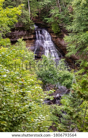 Chapel Falls in Pictured Rocks National Lakeshore in Michigan, USA