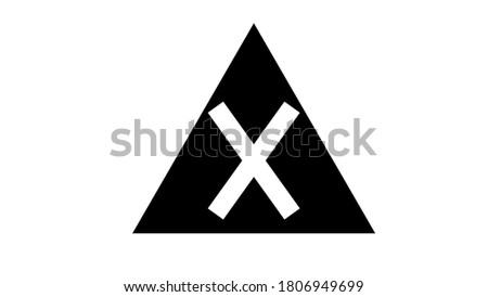 Letter X logo. Useful as branding symbol, identity, alphabet element, square app icon, clip art and illustration.