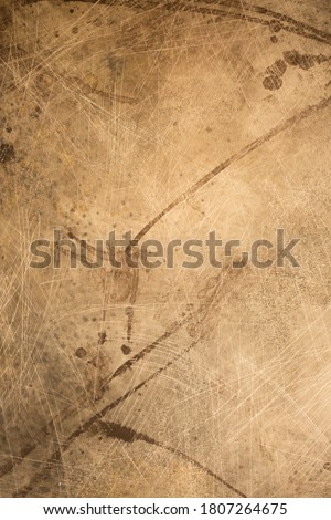 Vintage antique papyrus paper texture, abstract wall surface background, spotted surface texture with copy space, unusual beige surface background.