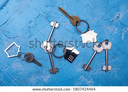 House key close up photo. Renting property, real estate concept
