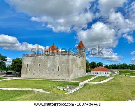 Kuressaare city Saaremaa island Estonia old medieval castle pictures