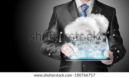 Cloud computing touchscreen interface #180766757
