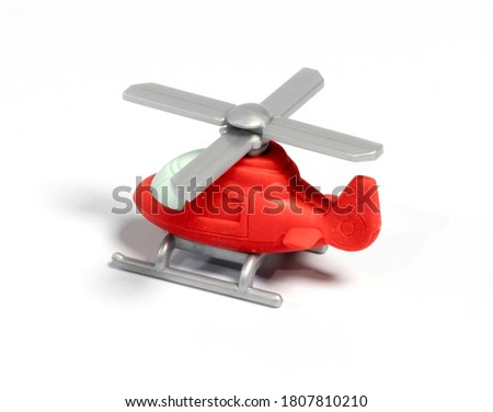 helicopter toy on white background