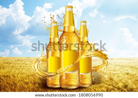 Wheat beer advertising,Background picture,Beer advertisement