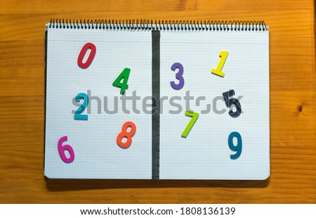 Odd and even numbers division.  Royalty-Free Stock Photo #1808136139