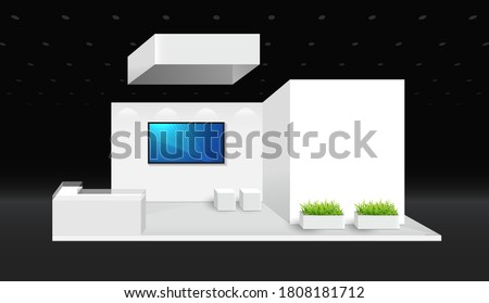 Booth template. corporate identity. creative exhibition stand vector illustration design. Royalty-Free Stock Photo #1808181712