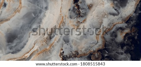Luxurious black agate marble texture with golden veins, polished marble quartz stone background striped by nature with a unique patterning, it can be used for interior-exterior home décor tile. #1808515843