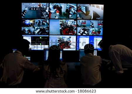 cctv security system with multiple camera views in china #18086623