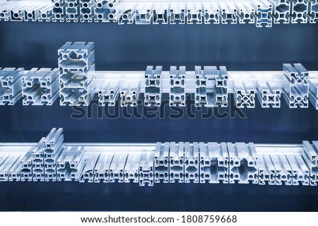 Cross sections of extruded aluminium or aluminum channels for use in manufacturing and fabrication                      #1808759668