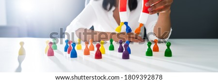 Attracting Leads or Customers With Magnet. Attractive Jobs Royalty-Free Stock Photo #1809392878