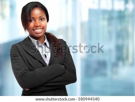 Beautiful african businesswoman portrait #180944540