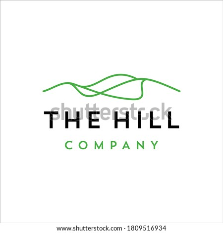 Hill with minimalist line design Royalty-Free Stock Photo #1809516934