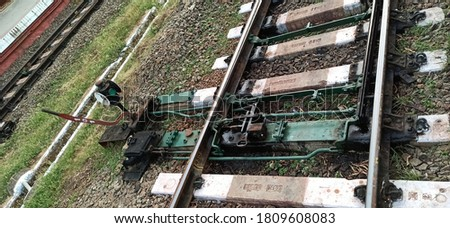 Manual Rail track changer with signal lamp