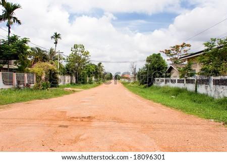 road through small village #18096301