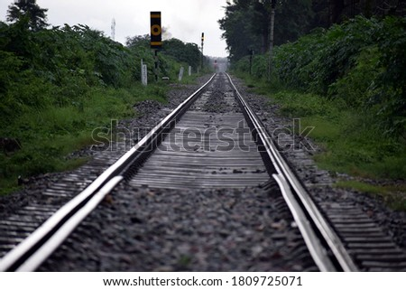 Beautiful picture of rail way track