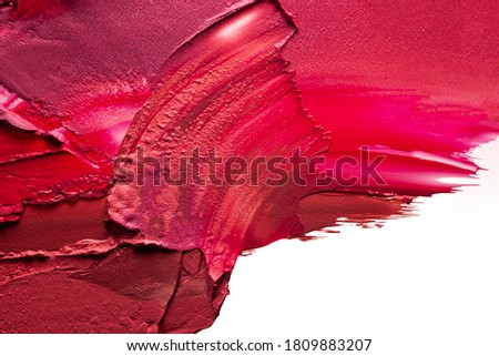Pink red lipstick background texture smudged