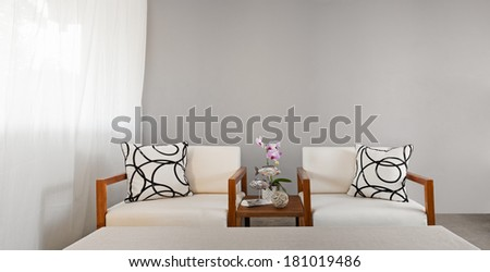 white sofa seat with pillows in bright color #181019486