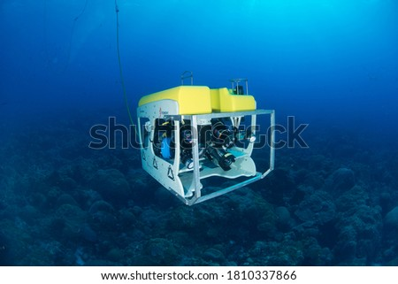 Flower Garden Banks National Marine Sanctuary uses this submersible ROV, the Mohawk,  to take HD pictures of the reefs in the sanctuary!