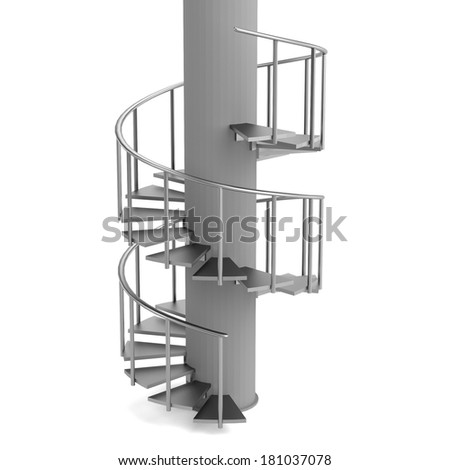 realistic 3d render of stairs #181037078