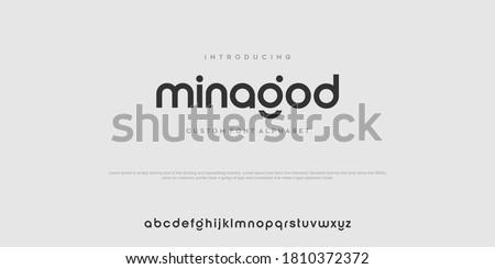 Modern minimal abstract alphabet fonts. Typography technology, electronic, movie, digital, music, future, logo creative font. vector illustration Royalty-Free Stock Photo #1810372372