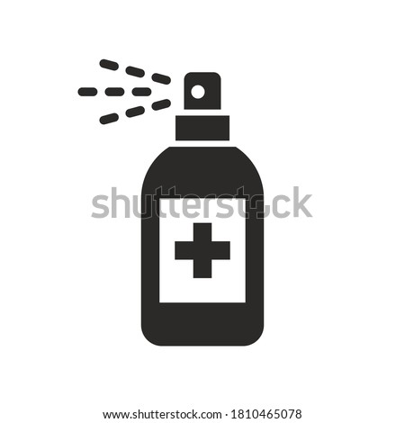 Antibacterial sanitizer spray icon. Vector icon isolated on white background. #1810465078