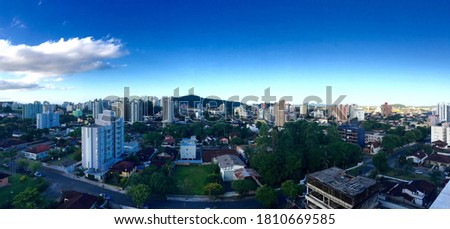 Vista aérea de Joinville, Anita Garibaldi Royalty-Free Stock Photo #1810669585