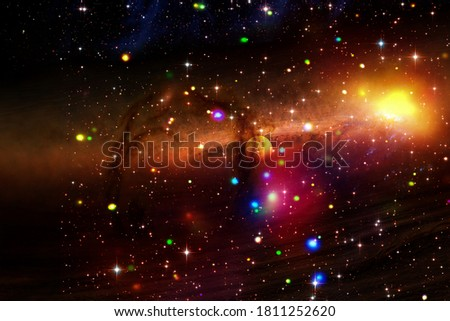 Cosmic galaxy background. Stars and cosmic gas.The elements of this image furnished by NASA. Royalty-Free Stock Photo #1811252620